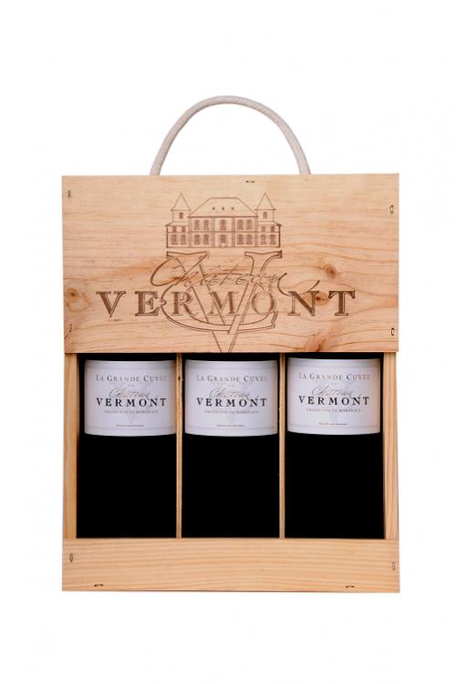Coffret bois La Grande Château Vermont La Grande Cuvée 2018
